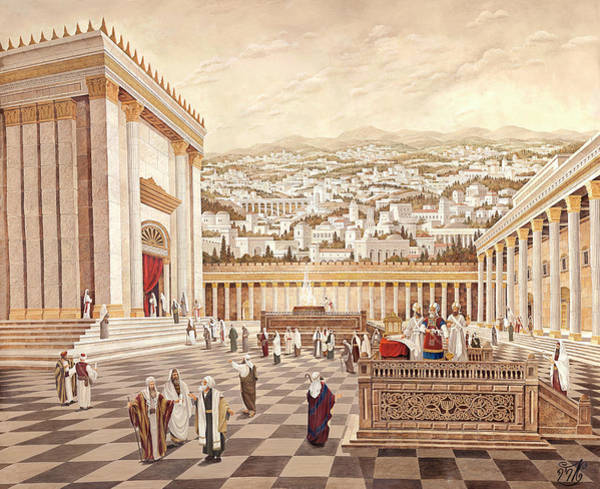 Hasidim Wall Art - Painting - The Second Temple. Cohen by Aryeh Weiss
