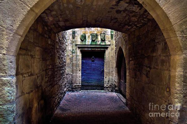 Photograph - The Secret Behind The Medieval Blue Door by Silva Wischeropp