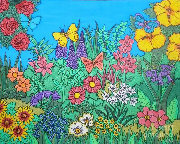 Osteospermum Painting - The Secret Garden by Joanne Oram
