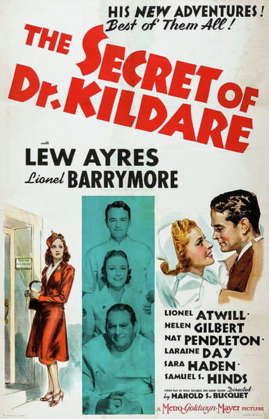 Wall Art - Mixed Media - The Secret Of Dr Kildare 1939 by Mountain Dreams