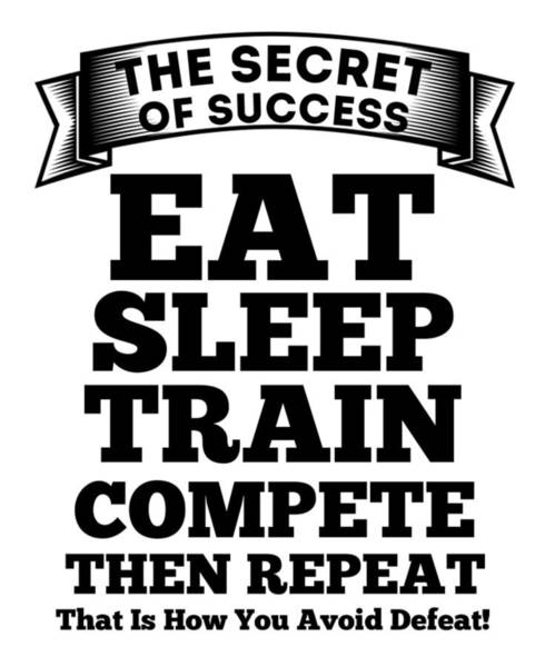 Powerlifting Digital Art - The Secret Of Success by FirstTees Motivational Artwork