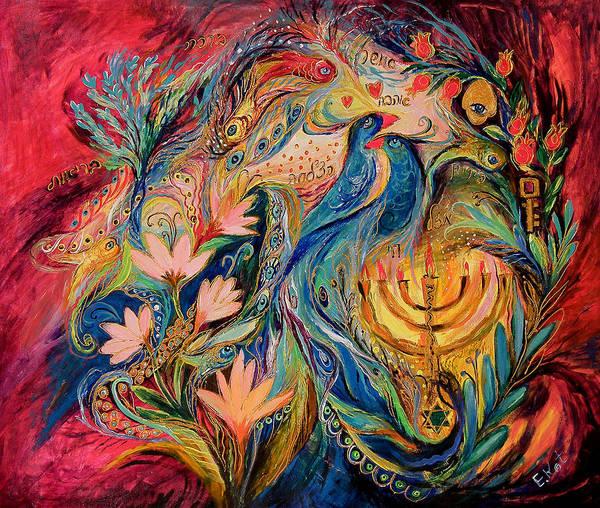 Wall Art - Painting - The Secret Of The Blue Birds by Elena Kotliarker