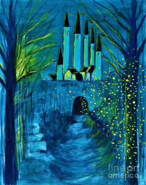 Painting - The Secret Of The Blue Castle  by Allison Constantino
