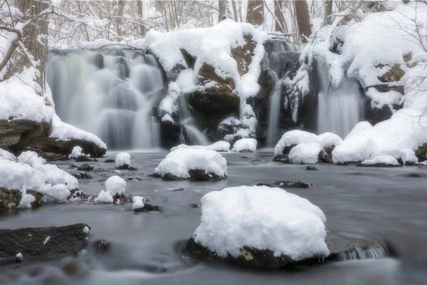 The Secret Waterfall In Winter 1 Art Print