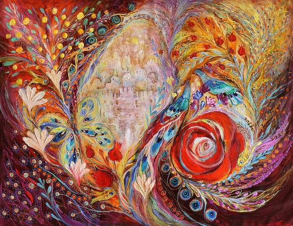 Wall Art - Painting - The Seeing Of Jerusalem by Elena Kotliarker