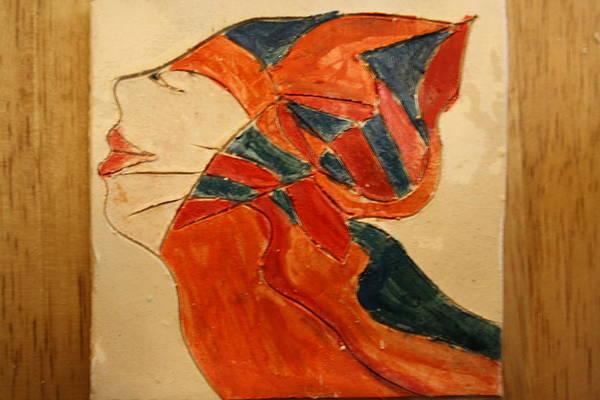 Ceramic Art - the Seeker - tile by Gloria Ssali