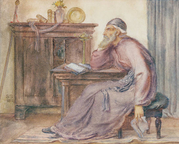 Wall Art - Painting - The Seer by Simeon Solomon
