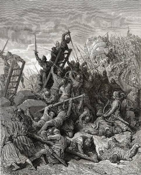 Wall Art - Drawing - The Seige Of Ptolemais During The Third by Vintage Design Pics