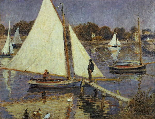 Wall Art - Painting - The Seine At Argenteuil  by Auguste Renoir