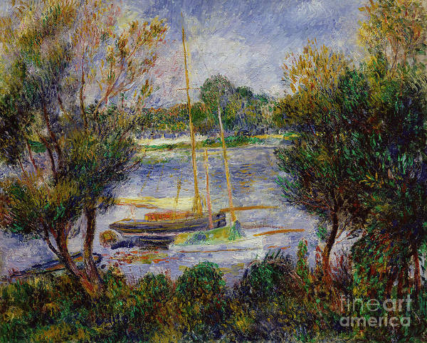 River Seine Painting - The Seine At Argenteuil by Pierre Auguste Renoir
