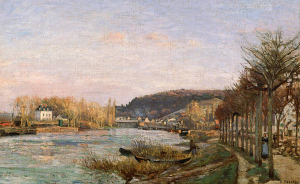 Painting - The Seine At Bougival by Camille Pissarro
