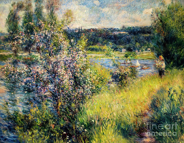 Painting - The Seine At Chatou by Auguste Renoir