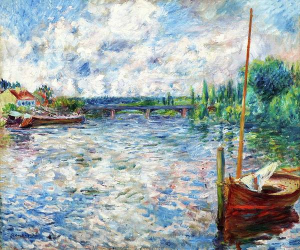 Painting - The Seine At Chatou By Pierre Auguste Renoir 1874 by Movie Poster Prints