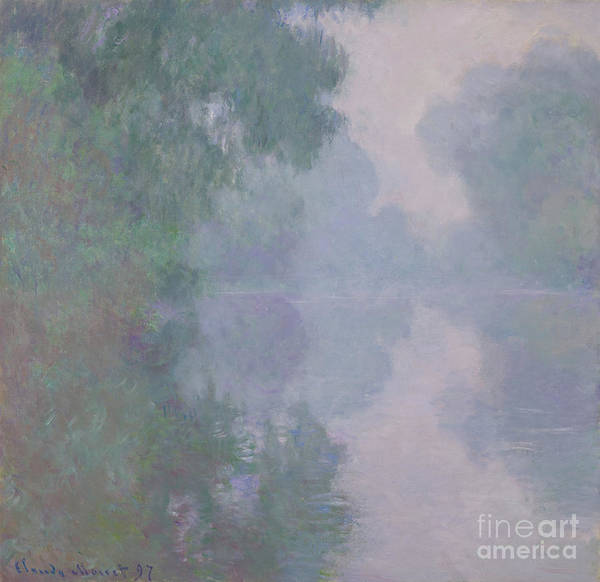 Wall Art - Painting - The Seine At Giverny, Morning Mists, 1897 by Claude Monet