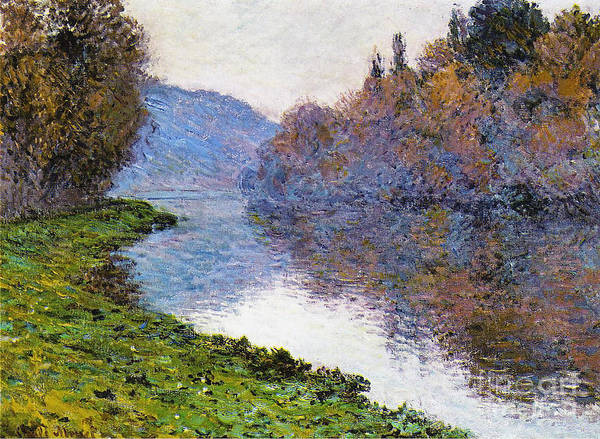 River Seine Painting - The Seine At Jenfosse by Claude Monet