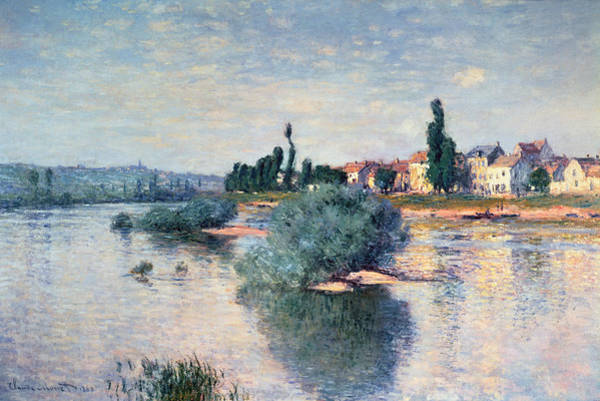 Crt Painting - The Seine At Lavacourt by Claude Monet