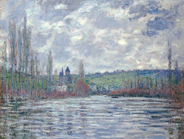 Vetheuil Wall Art - Painting - The Seine In Flood At Vetheuil by Claude Monet