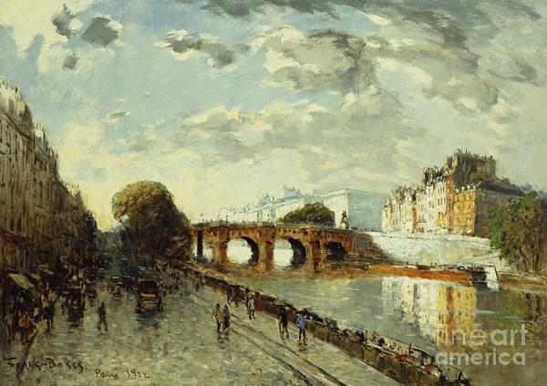 Avenue Painting - The Seine In Paris, Quai Des Augustins, 1922 by Frank Myers Boggs