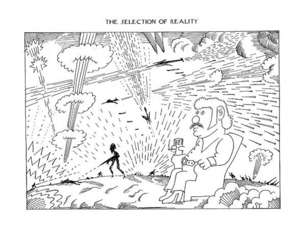 March 3rd Drawing - The Selection Of Reality by Saul Steinberg