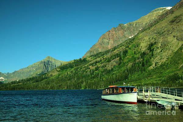 Swan Boats Photograph - The Senopah Two Medicine Lake Glacier National Park by Jeff Swan