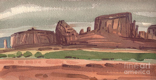 Butte Painting - The Sentinel by Donald Maier