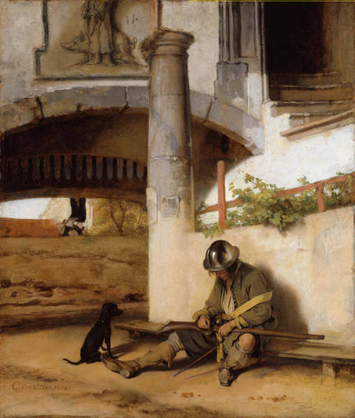 Sentry Wall Art - Painting - The Sentry by Carel Fabritius