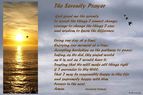 Serenity Prayer Digital Art - The Serenity Prayer by Barbara Snyder