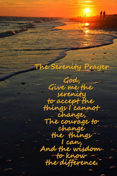 Wall Art - Photograph - The Serenity Prayer by Lisa Wooten