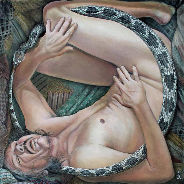 Clovis Painting - The Serpent Handler by Clovis Rusk