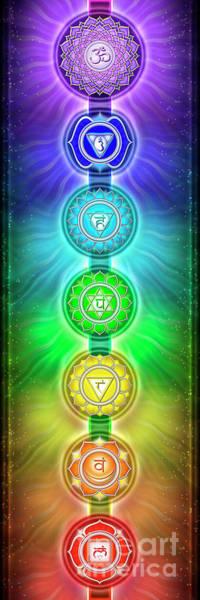 Sacred Mixed Media - The Seven Chakras - Series 2 by Dirk Czarnota