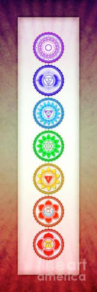 Sacred Heart Digital Art - The Seven Chakras - Series 6 Artwork 1 by Dirk Czarnota