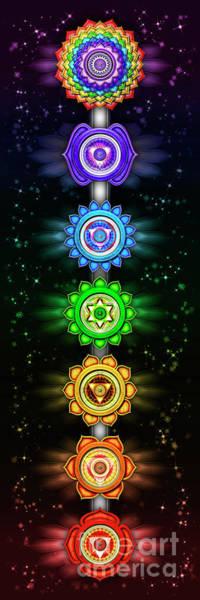 Wall Art - Digital Art - The Seven Chakras - Series Open Chakra II by Dirk Czarnota