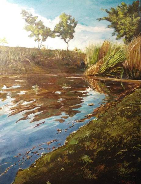 Painting - The Seven Lakes by Ray Khalife