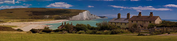 Photograph - The Seven Sisters And The Coastguard Cottages by Chris Lord
