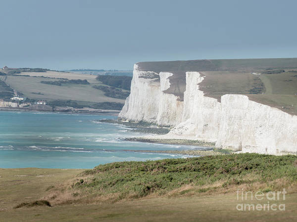 Art Print featuring the photograph The Seven Sisters White Cliffs by Perry Rodriguez