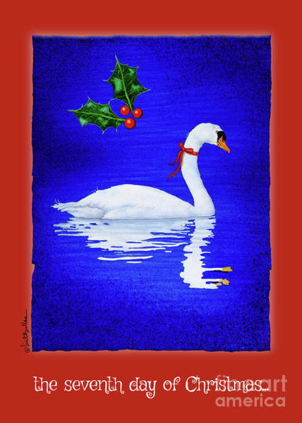Painting - the seventh day of Christmas... by Will Bullas