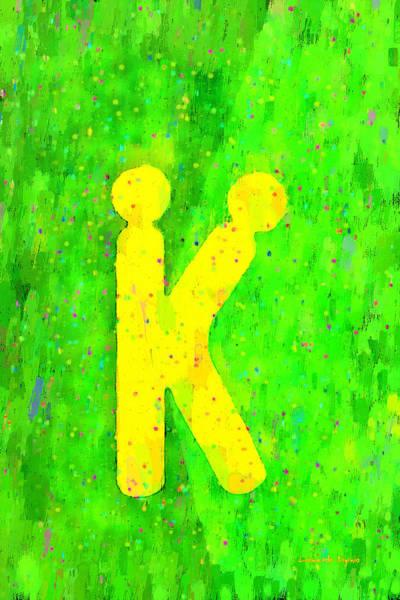 Xxx Painting - The Sexy K  - Yellow -  - Pa by Leonardo Digenio