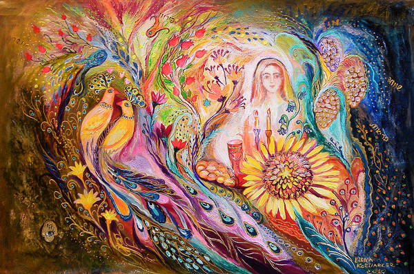 Wall Art - Painting - The Shabbat Queen by Elena Kotliarker