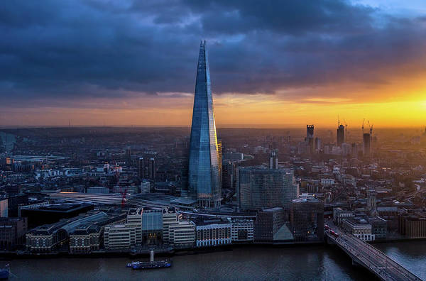 Hays Galleria Wall Art - Photograph - The Shard At Sunset by Milton Cogheil