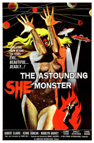 She Painting - The She Monster by Long Shot