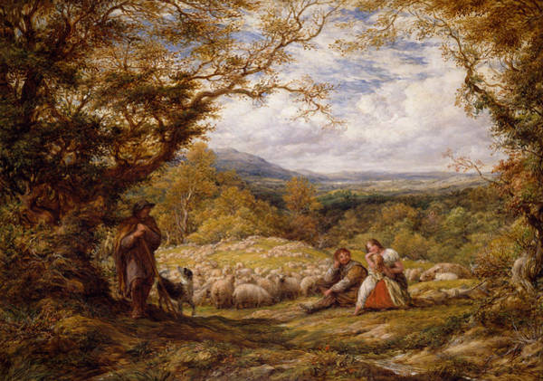 Painting - The Sheep Drive by John Linnell