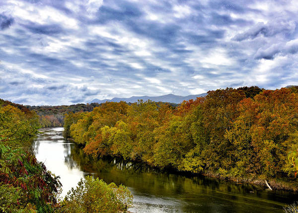 Wall Art - Photograph - The Shenandoah River During Autumn - Virginia by Brendan Reals