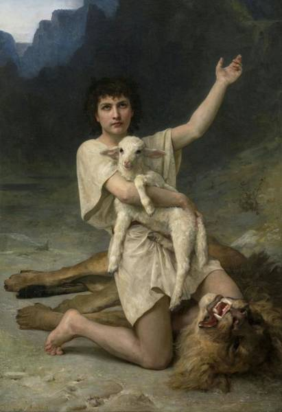 Painting - The Shepherd David Triumphant by Elizabeth Jane Gardner