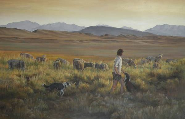 Crazy Mountains Painting - The Shepherdess by Mia DeLode