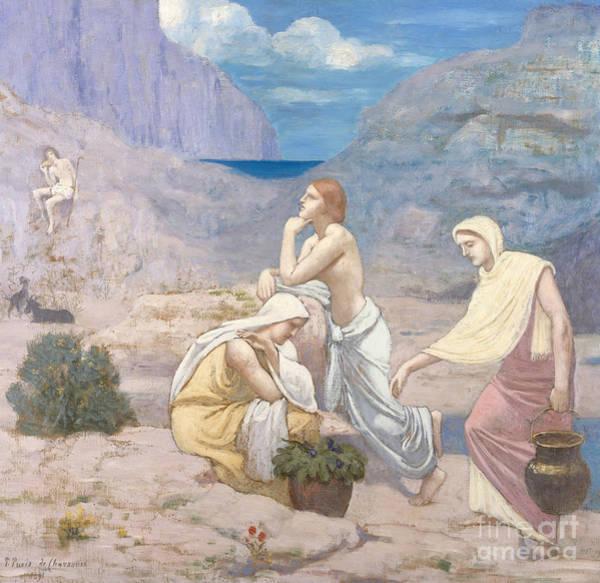 The Shepherdess Wall Art - Painting - The Shepherd's Song, 1891 by Pierre Puvis de Chavannes