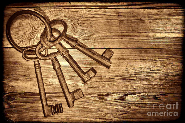 Photograph - The Sheriff Jail Keys by American West Legend By Olivier Le Queinec