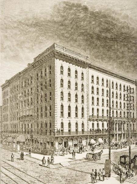 Vintage Chicago Drawing - The Sherman Hotel, Chicago, Illinois In by Vintage Design Pics