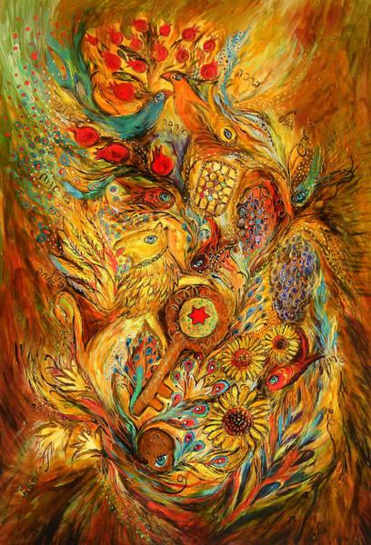 Wall Art - Painting - The Shining Of Gold by Elena Kotliarker