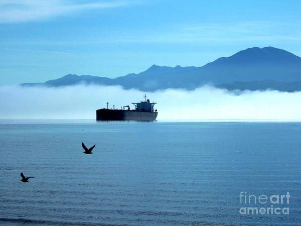 Photograph - The Ship In The Fog Port Angeles Washington Olympic Peninsula  by Delores Malcomson