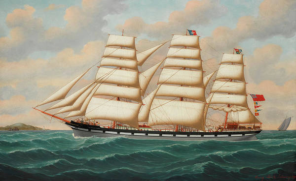 Beauty Wall Art - Painting - The Ship Lindisfarne Outward Bound by Henry Loos